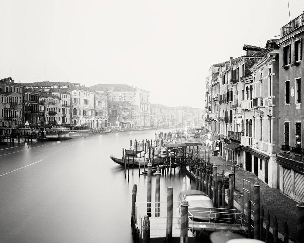 "Canale Grande #1, Venice 2011- Limited Edition Gelatin Silver Print No.: 11015  40 x 50cm (15.8 x 19.7"") ,  Edition of 20 60 x 75cm (23.6 x 29.5"") ,  Edition of 15 80 x 100cm (31.5 x 39.4"") ,  Edition of 10 100 x 125cm (39.4 x 49.2"") ,  Edition of 5 120 x 150cm (47.2 x 59.1"") ,  Edition of 5"