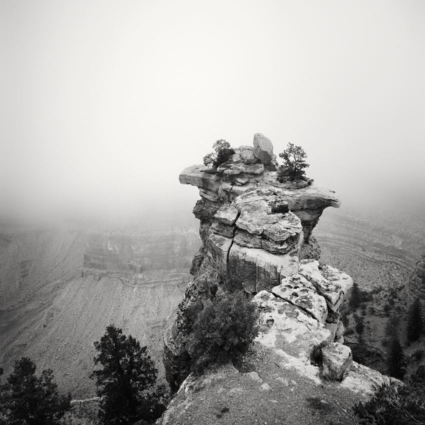 "Grand Canyon Study #1, AZ, USA 2015 - Limited Edition Gelatin Silver Print No.: 11617  40 x 40cm (15.8 x 15.8"") ,  Edition of 20 60 x 60cm (23.6 x 23.6"") ,  Edition of 15 80 x 80cm (31.5 x 31.5"") ,  Edition of 10 100 x 100cm (39.4 x 39.4"") ,  Edition of 5"