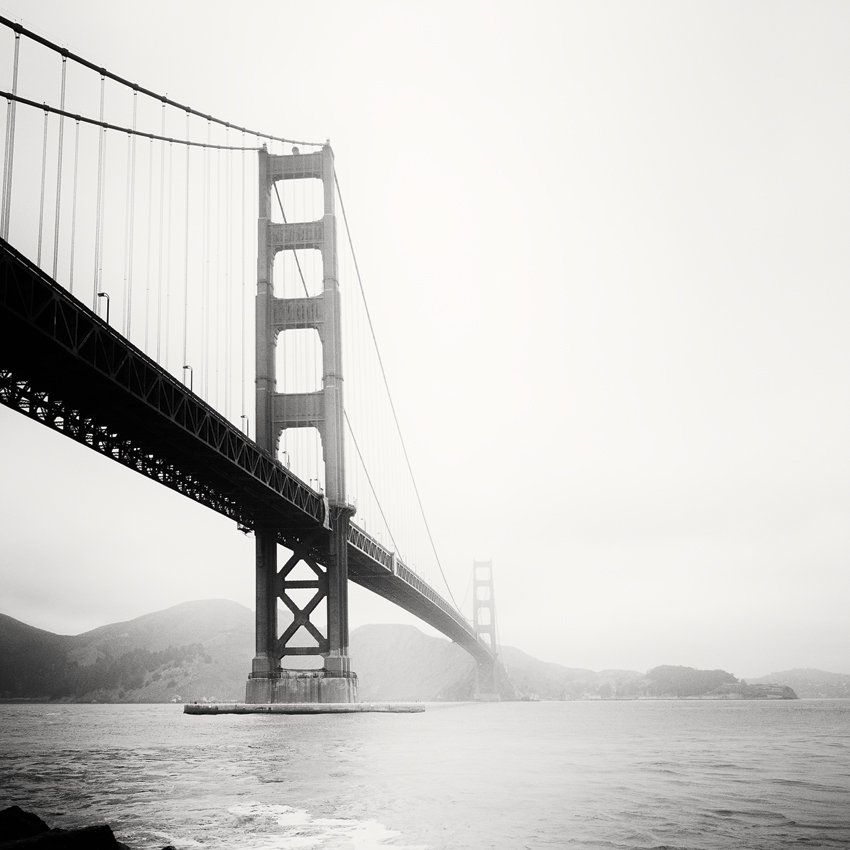 "Golden Gate Study #3, CA, USA 2015 - Limited Edition Gelatin Silver Print No.: 11629  40 x 40cm (15.8 x 15.8"") ,  Edition of 9 60 x 60cm (23.6 x 23.6"") ,  Edition of 9 80 x 80cm (31.5 x 31.5"") ,  Edition of 7 100 x 100cm (39.4 x 39.4"") ,  Edition of 5"