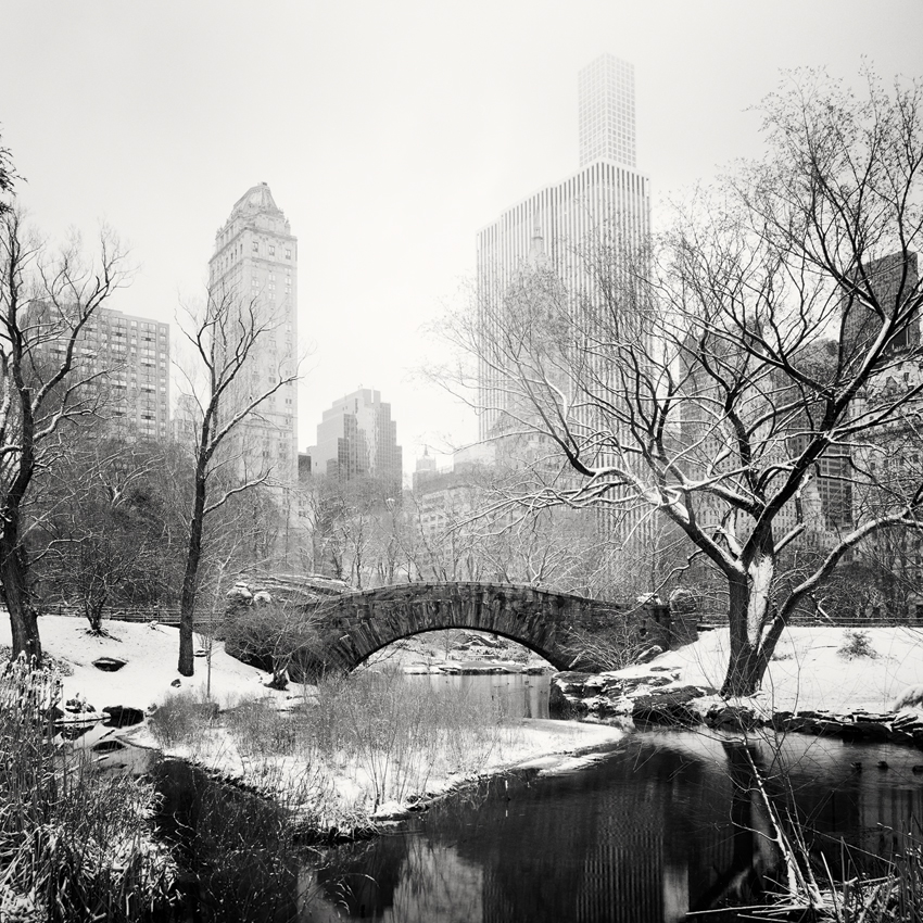 """Snow Covered Central Park Study #4, New York City, USA 2016 - Limited Edition Gelatin Silver Print No.: 11910  40 x 40cm (15.8 x 15.8"""") ,  Edition of 9 60 x 60cm (23.6 x 23.6"""") ,  Edition of 9 80 x 80cm (31.5 x 31.5"""") ,  Edition of 7 100 x 100cm (39.4 x 39.4"""") ,  Edition of 5"""
