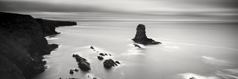 "Irish Coast Panorama Study #2, Ireland 2014 - Limited Edition Gelatin Silver Print No.: 11890  40 x 120cm (15.8 x 47.2"") ,  Edition of 9 50 x 150cm (19.7 x 59.1"") ,  Edition of 9 60 x 180cm (23.6 x 70.9"") ,  Edition of 7 80 x 240cm (31.5 x 94.5"") ,  Edition of 5"