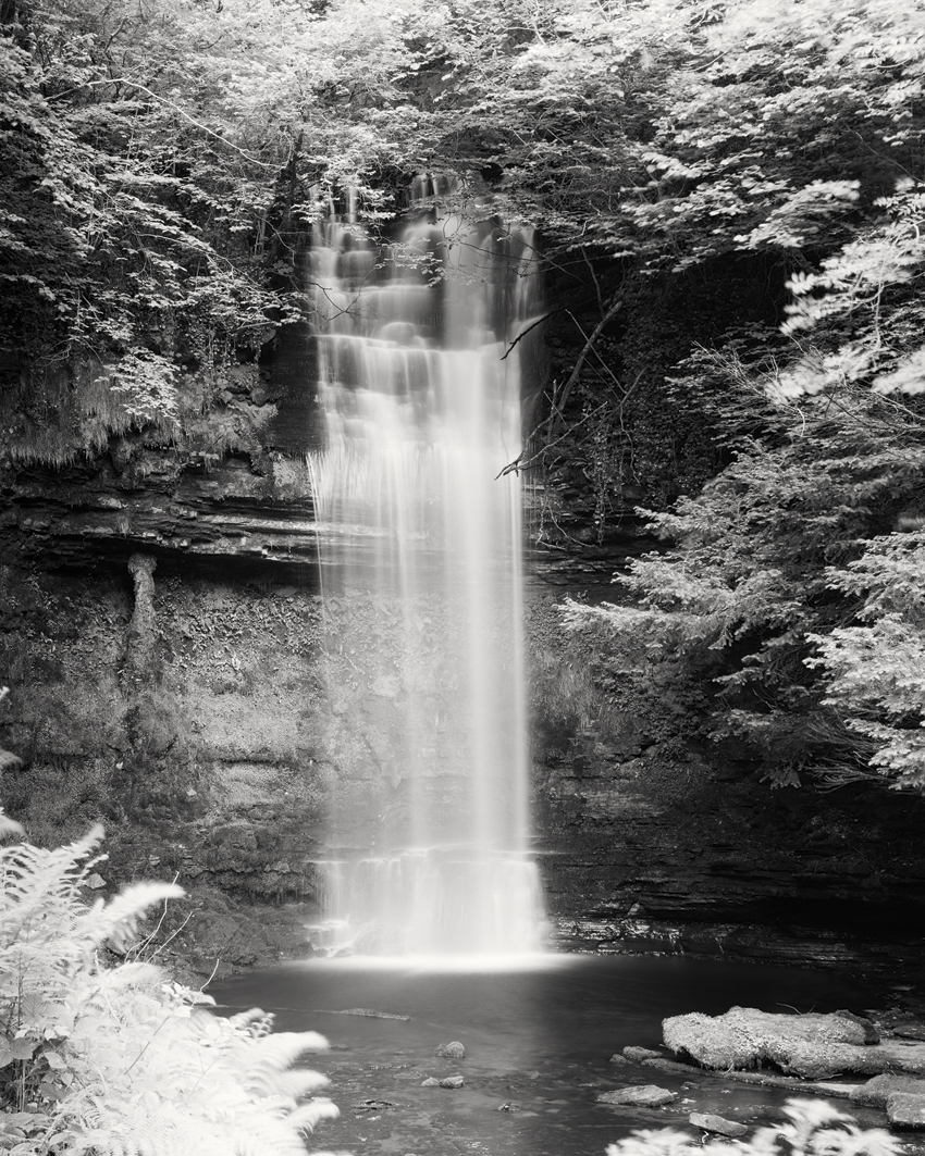"Waterfall Study #4, Ireland 2014 - Limited Edition Gelatin Silver Print No.: 11929 40 x 50cm (15.8 x 19.7""), Edition of 8 60 x 75cm (23.6 x 29.5""), Edition of 7 80 x 100cm (31.5 x 39.4""), Edition of 5 100 x 125cm (39.4 x 49.2""), Edition of 5 120 x 150cm (47.2 x 59.1""), Edition of 5"