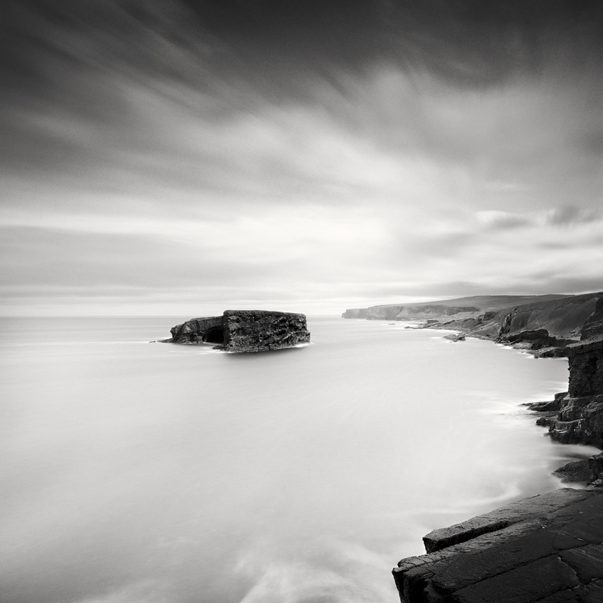 "Irish Coast Study #1, Ireland 2014 - Limited Edition Gelatin Silver Print No.: 11541  40 x 40cm (15.8 x 15.8"") ,  Edition of 9 60 x 60cm (23.6 x 23.6"") ,  Edition of 9 80 x 80cm (31.5 x 31.5"") ,  Edition of 7 100 x 100cm (39.4 x 39.4"") ,  Edition of 5"