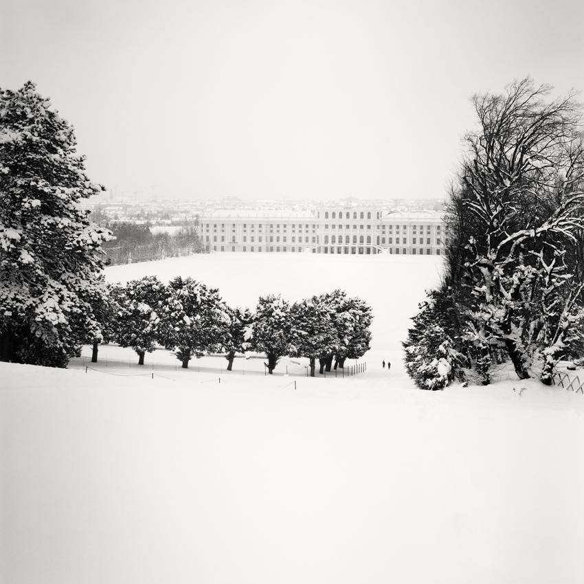 "Schönbrunn Palace Snow Study #1, Vienna 2013 - Limited Edition Gelatin Silver Print No.: 11368  40 x 40cm (15.8 x 15.8"") ,  Edition of 9 60 x 60cm (23.6 x 23.6"") ,  Edition of 9 80 x 80cm (31.5 x 31.5"") ,  Edition of 7 100 x 100cm (39.4 x 39.4"") ,  Edition of 5"