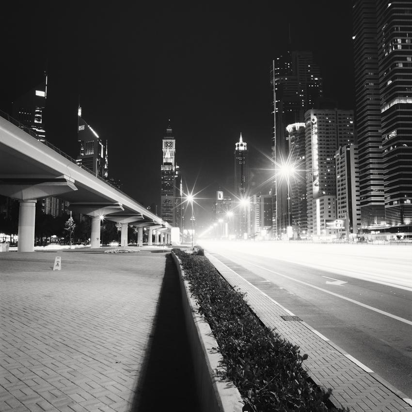 "Dubai Night Study #1, Dubai 2013- Limited Edition Gelatin Silver Print No.: 11946  40 x 40cm (15.8 x 15.8"") ,  Edition of 9 60 x 60cm (23.6 x 23.6"") ,  Edition of 9 80 x 80cm (31.5 x 31.5"") ,  Edition of 7 100 x 100cm (39.4 x 39.4"") ,  Edition of 5"