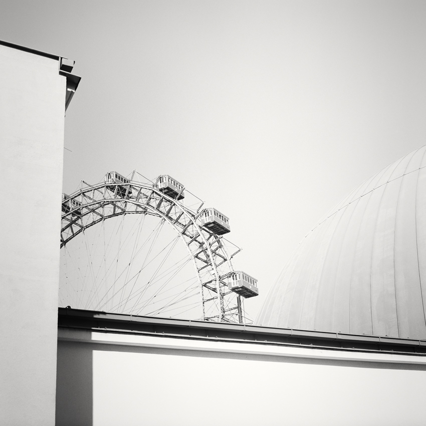 "Wiener Riesenrad Study #2, Prater, Vienna 2018 - Limited Edition Gelatin Silver Print No.: 11949  40 x 40cm (15.8 x 15.8"") ,  Edition of 9 60 x 60cm (23.6 x 23.6"") ,  Edition of 9 80 x 80cm (31.5 x 31.5"") ,  Edition of 7 100 x 100cm (39.4 x 39.4"") ,  Edition of 5"