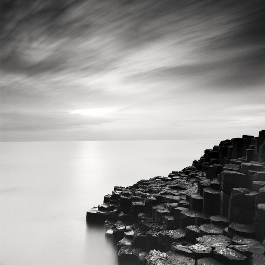 "Giant´s Causeway #2, Ireland - Limited Edition Gelatin Silver Print No.: 11709  40 x 40cm (15.8 x 15.8""), Edition of 9 60 x 60cm (23.6 x 23.6""), Edition of 9 80 x 80cm (31.5 x 31.5""), Edition of 7 100 x 100cm (39.4 x 39.4""), Edition of 5"