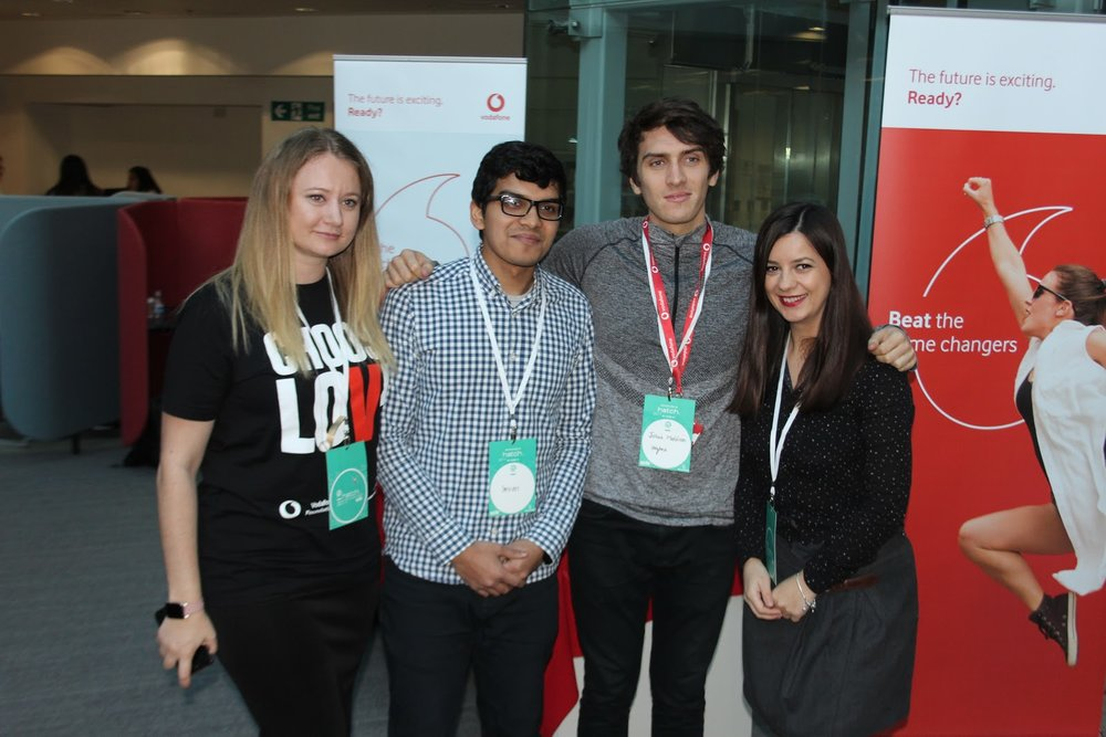 Representatives from Vodafone are allocated to mentor teams