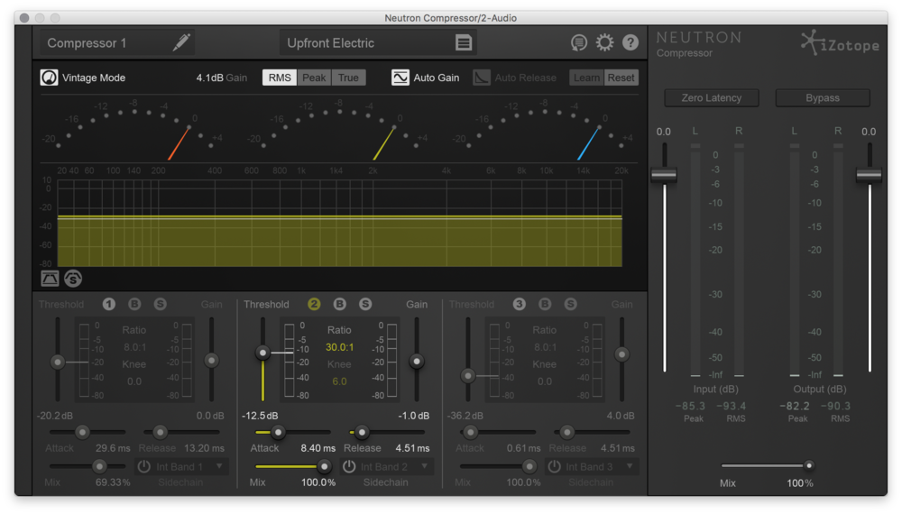 Here's the Izotope Neutron - Set up for Single Band Limiting to really push your sound.