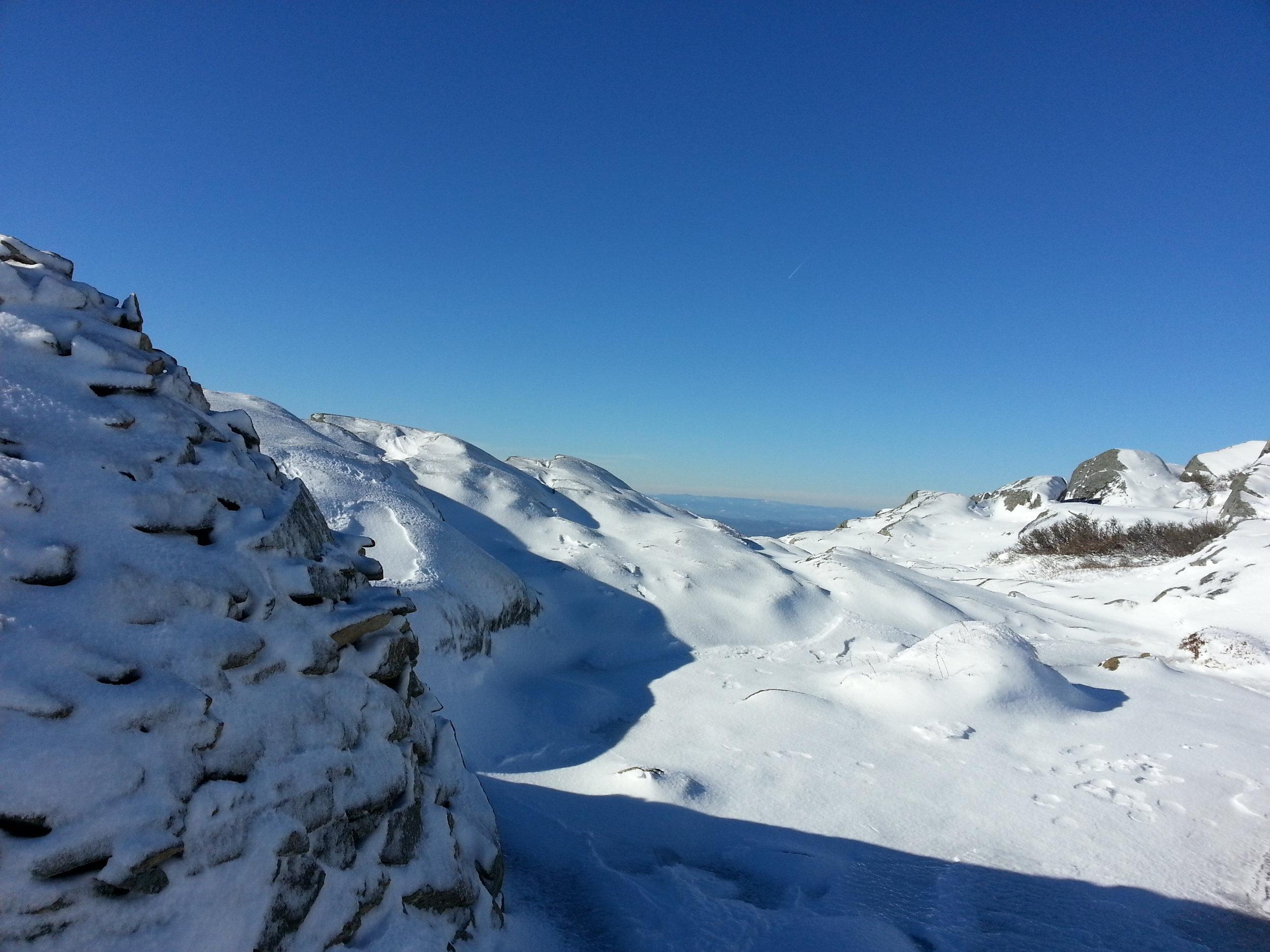 Snowy peak.