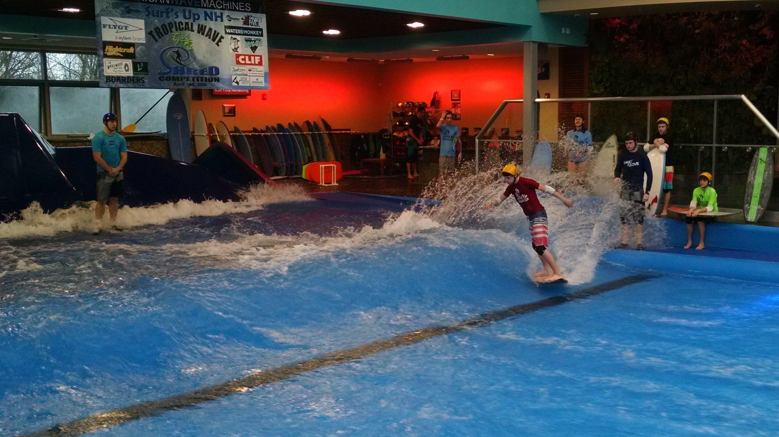 Indoor Wake Surfing Contest Water Monkey Summer Camp
