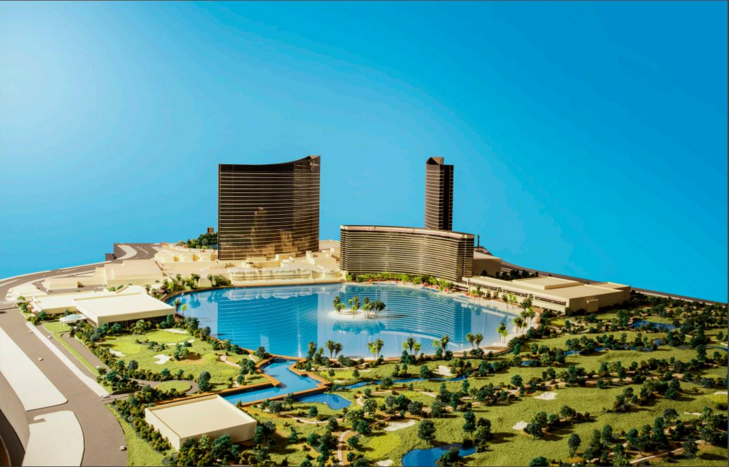 A model of the proposed resort!