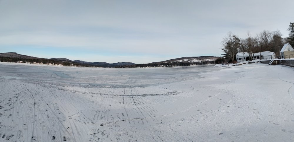 Merrymeeting Lake Frozen Panorama