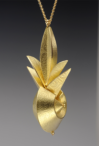Gold Pendant, 1999, 18k gold