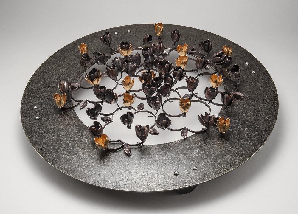 Pleasance  |  2015  |  bronze, copper, 24k gold plate  |  20 x 20 x 5 inches