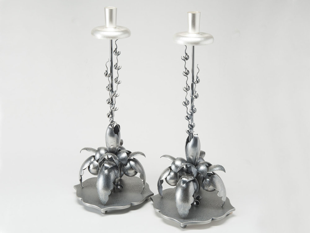 Candlestalks  |  2015  |  sterling silver, bronze, silver plate  |  18 x 8 x 8 inches