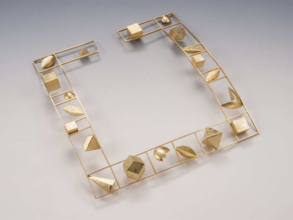 Square Gold Choker  |  1999  |  18k gold  |  7 x 7 x .75 inches