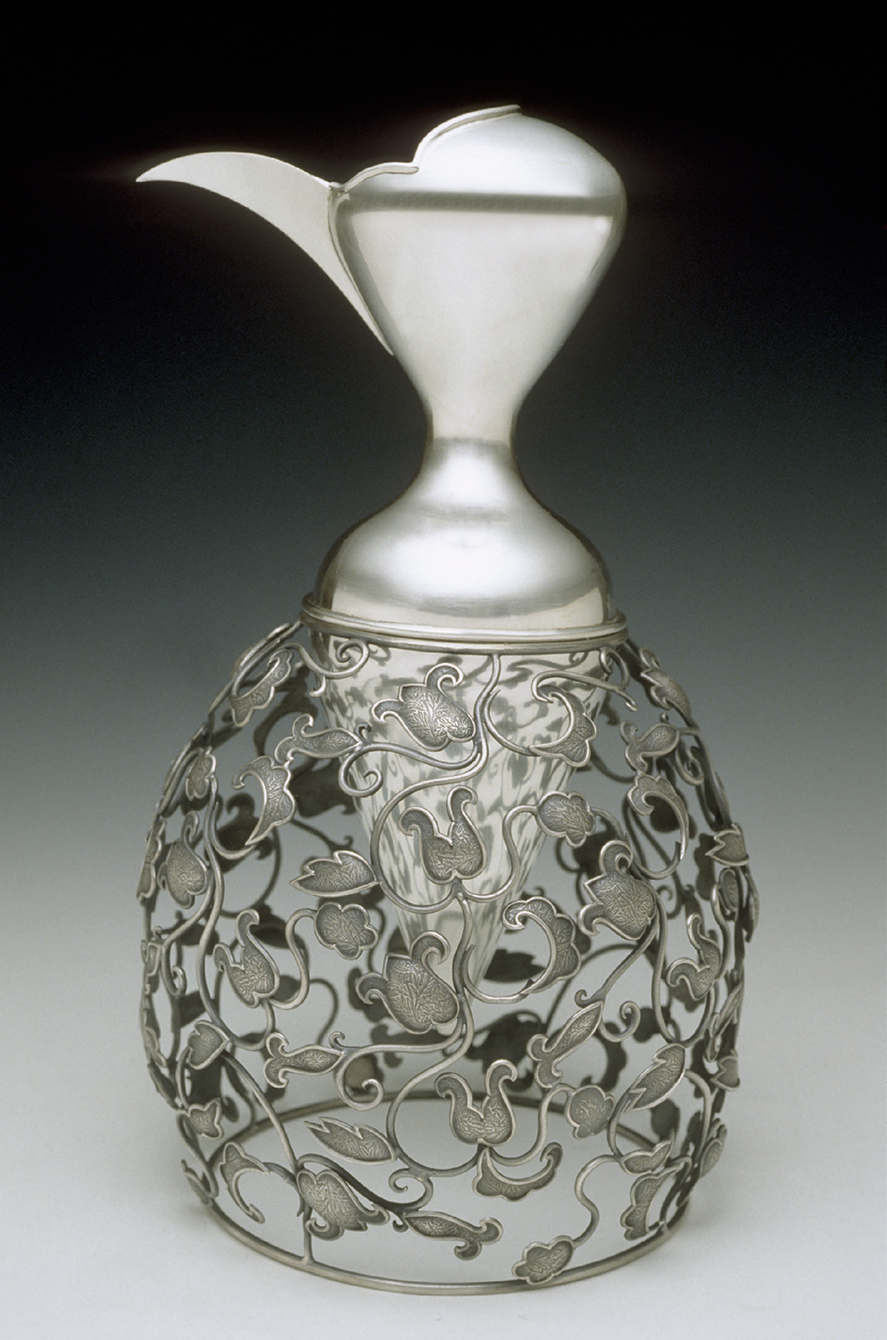 Decanter  | 2002   |  sterling silver  |  13 x 7 x 7 inches