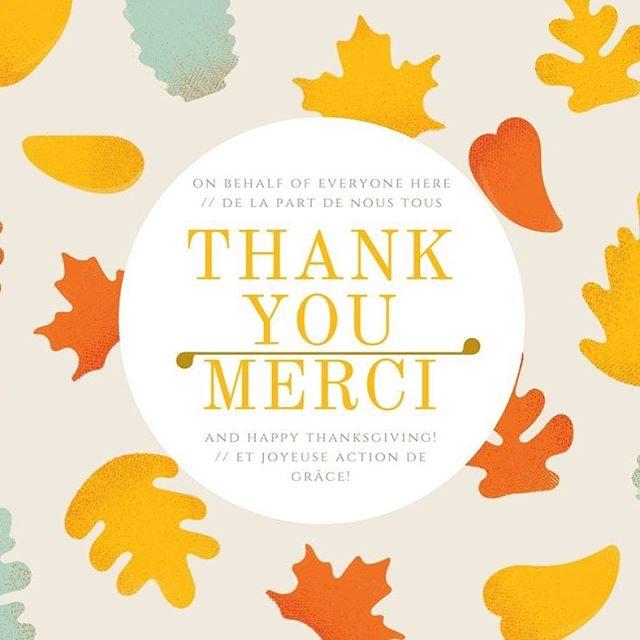 From all of us here at Étienne Brûlé, we want to take the time to say THANK YOU and to wish you all a Happy #Thanksgiving!  May your turkey be juicy and beer flow freely. // De la part de toute l'équipe ici à Étienne Brûlé, on veut prendre le temps de vous dire MERCI et de vous souhaiter une joyeuse Action de grâce!  Que votre dinde soit juteuse et votre bière coule à flots. . . . #actiondegrace #merci #givethanks #etiennebrule #613local #thanksgivingweekend
