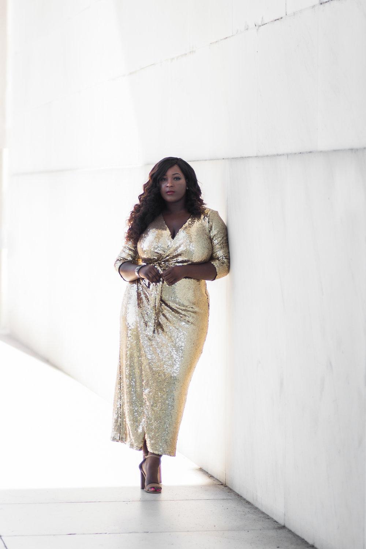 Eloquii wrap dress