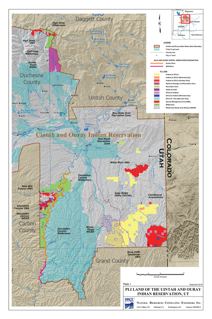 Ute Indian Tribe Map Ute PAC