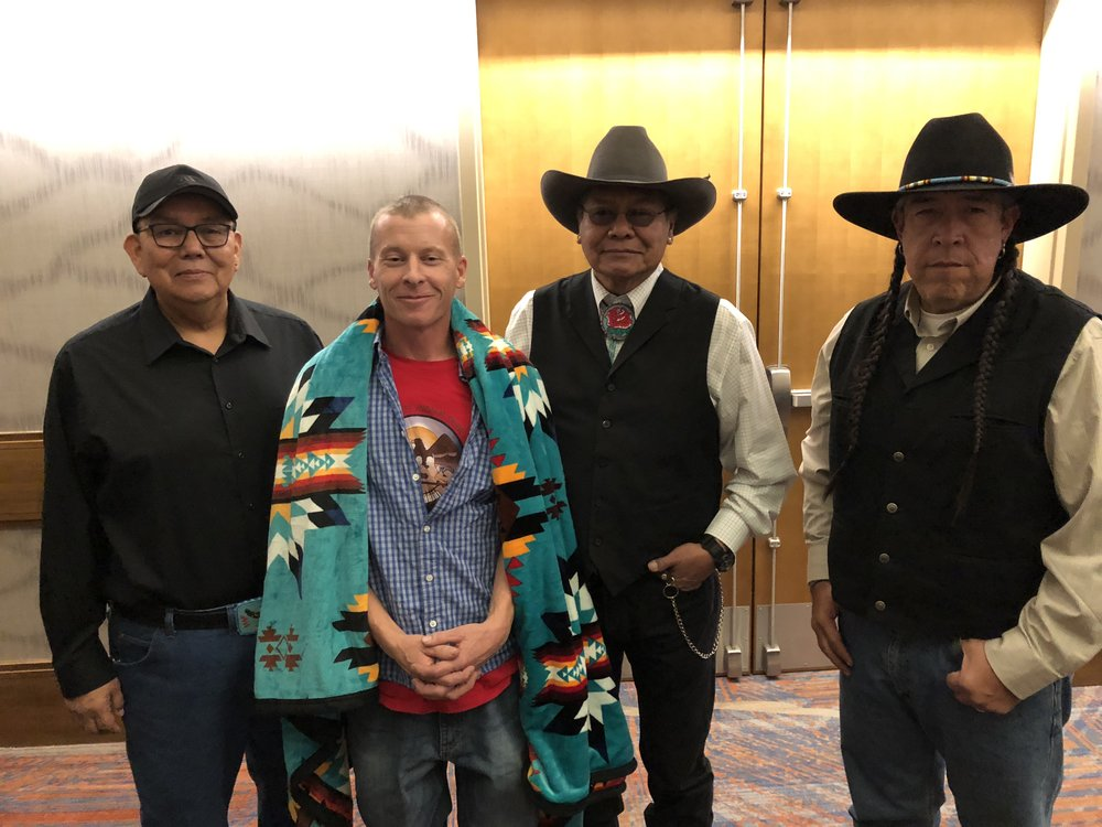 Ute Indian Tribe Business Committee Members with Rich Snyder at NCAI in Denver, October 25, 2018.