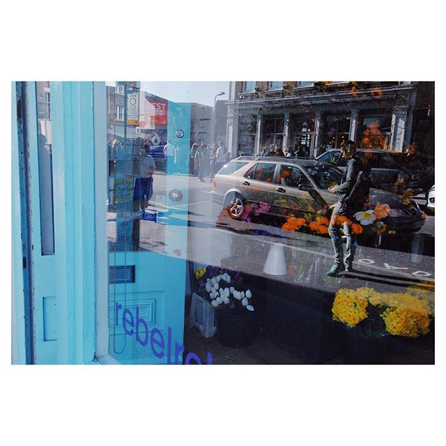 Travel inspiration from my time living in London. I am loving the #colors #layers #flowers in this pic.  Our lives can easily seem mundane, but there is inspiration everywhere once we open our eyes to it, even in the reflection of a shop window. I need to keep reminding myself of this.
