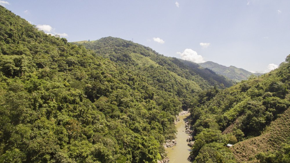 Location of proposed dam site. Credit: Expedition Colombia