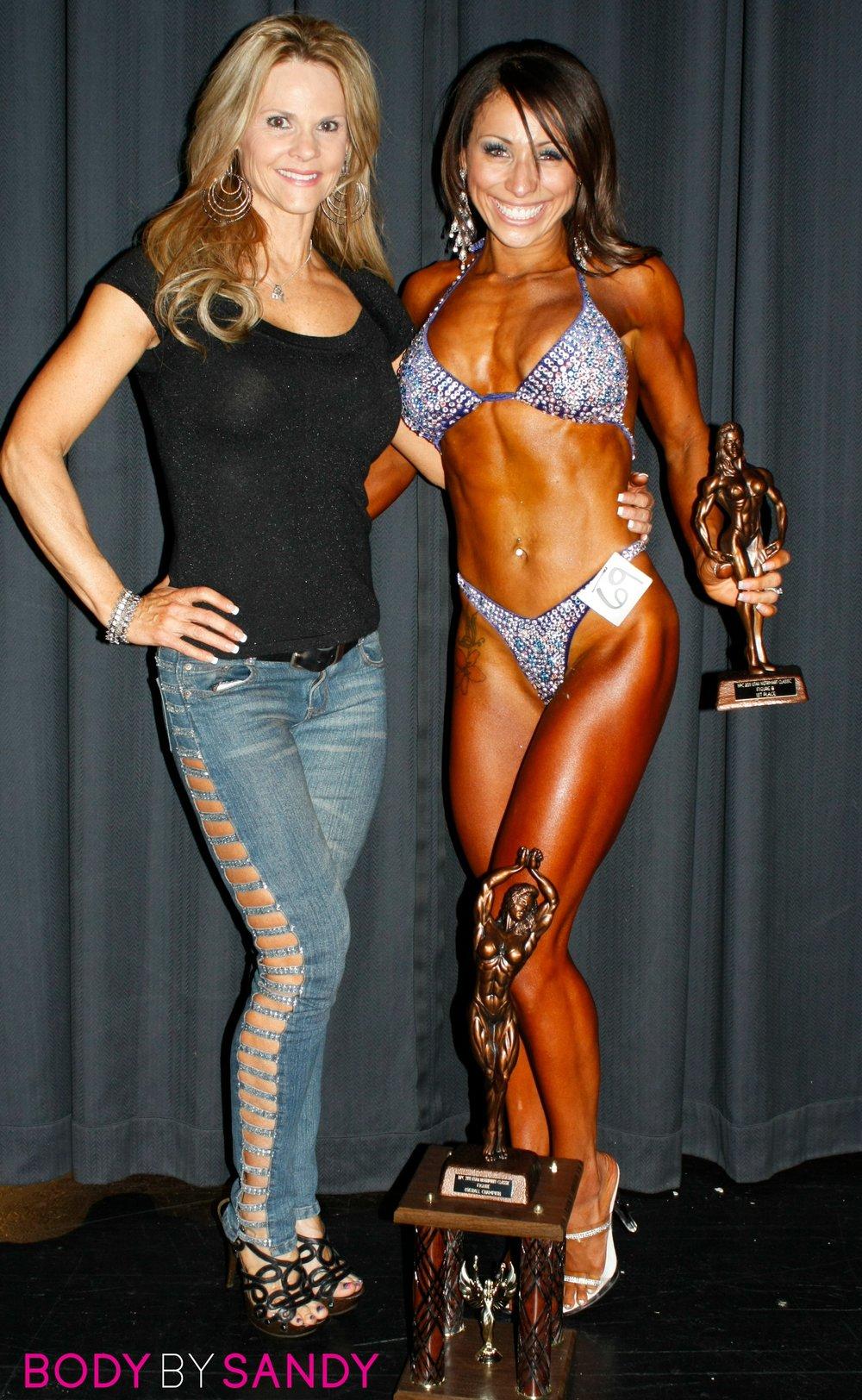 2011 NPC Utah Nutrimart-me & V with trophies.JPG