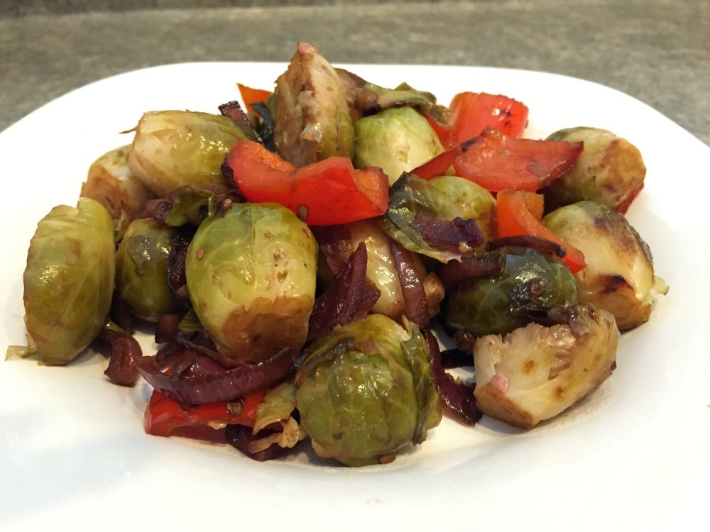 Sauteed Balsamic Brussel Sprouts