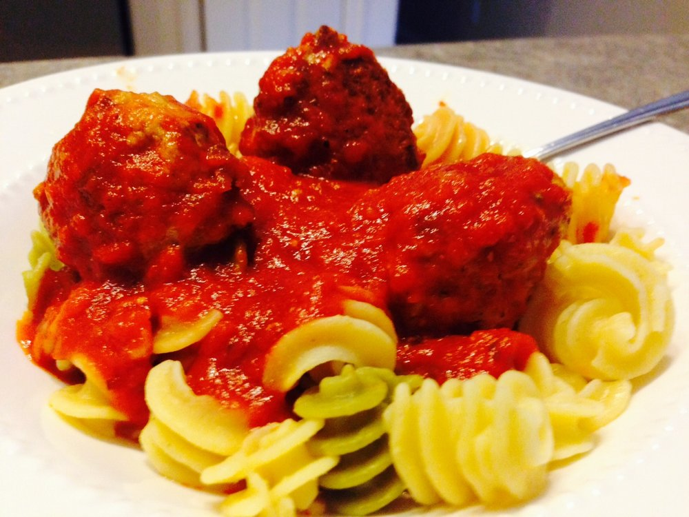 Chicken Meatballs & Quinoa Pasta