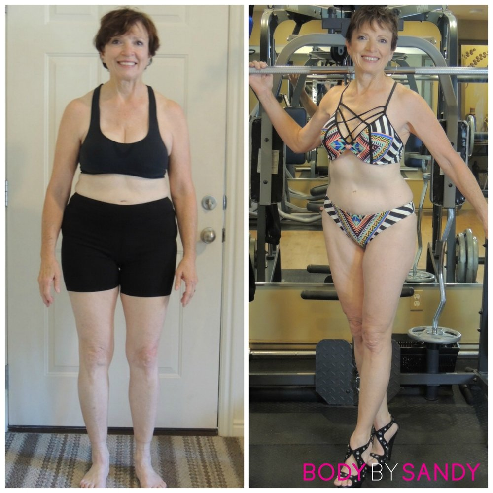 Kathy lost 41 pounds, 21% body fat, gained 5.4% lean muscle mass!