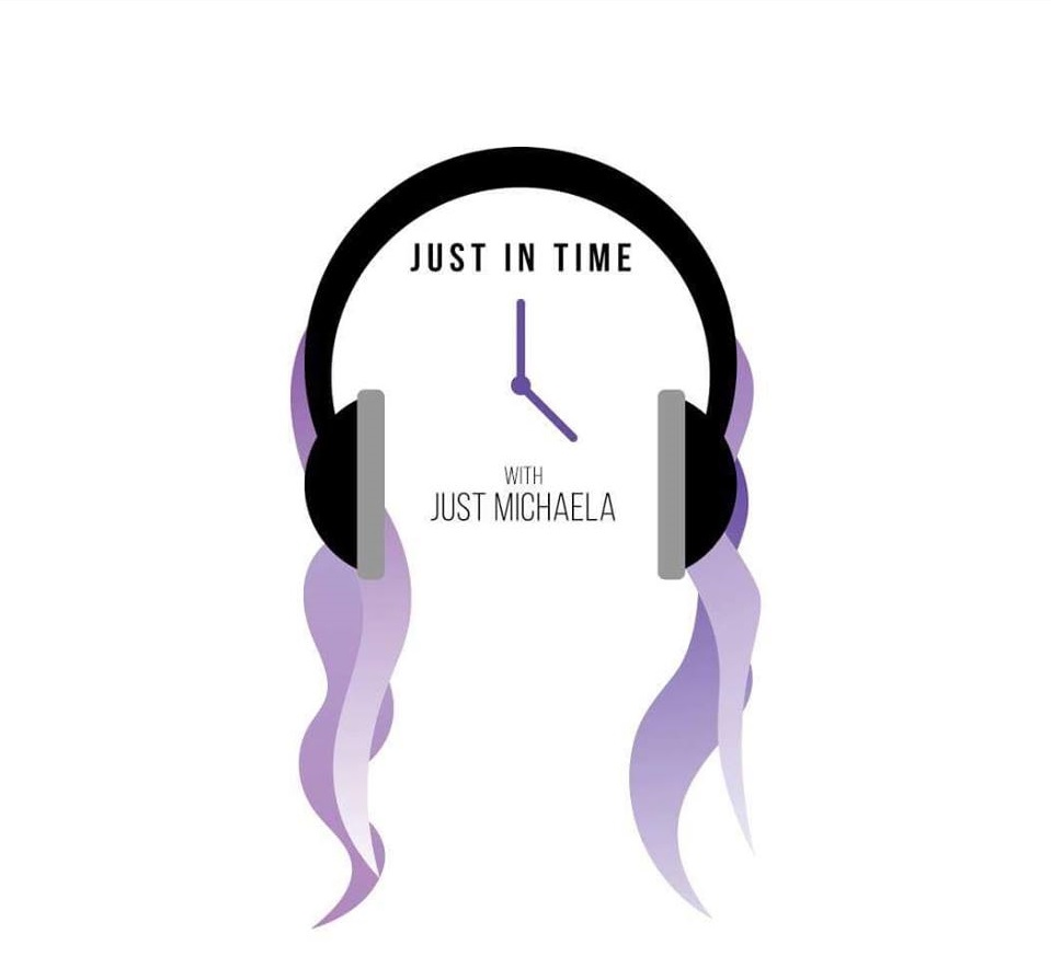 Just In Time with Just Michaela Logo