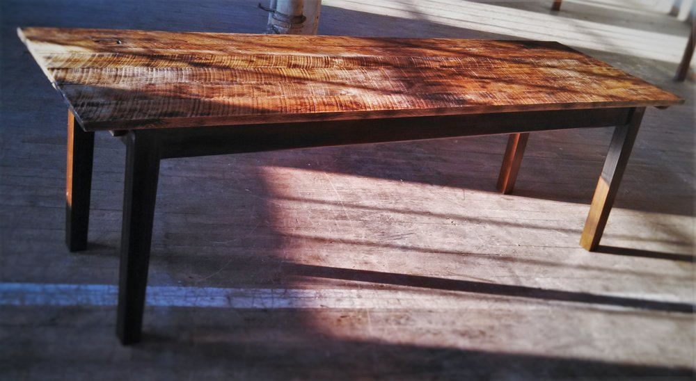 Roughsawn Table   Starting at $495    Shown in Toasted Amish Oak and Dyed Poplar