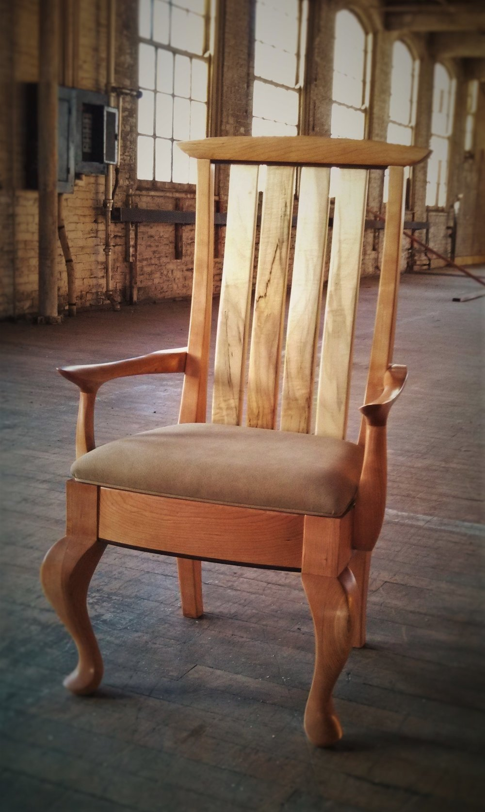 Conard Chair     Starting at $1,250    Shown in Cherry, Spalted Maple, and Wenge.