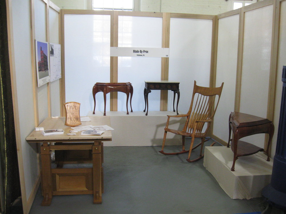 My booth at the 2009 Philadelphia Invitational Furniture Show.