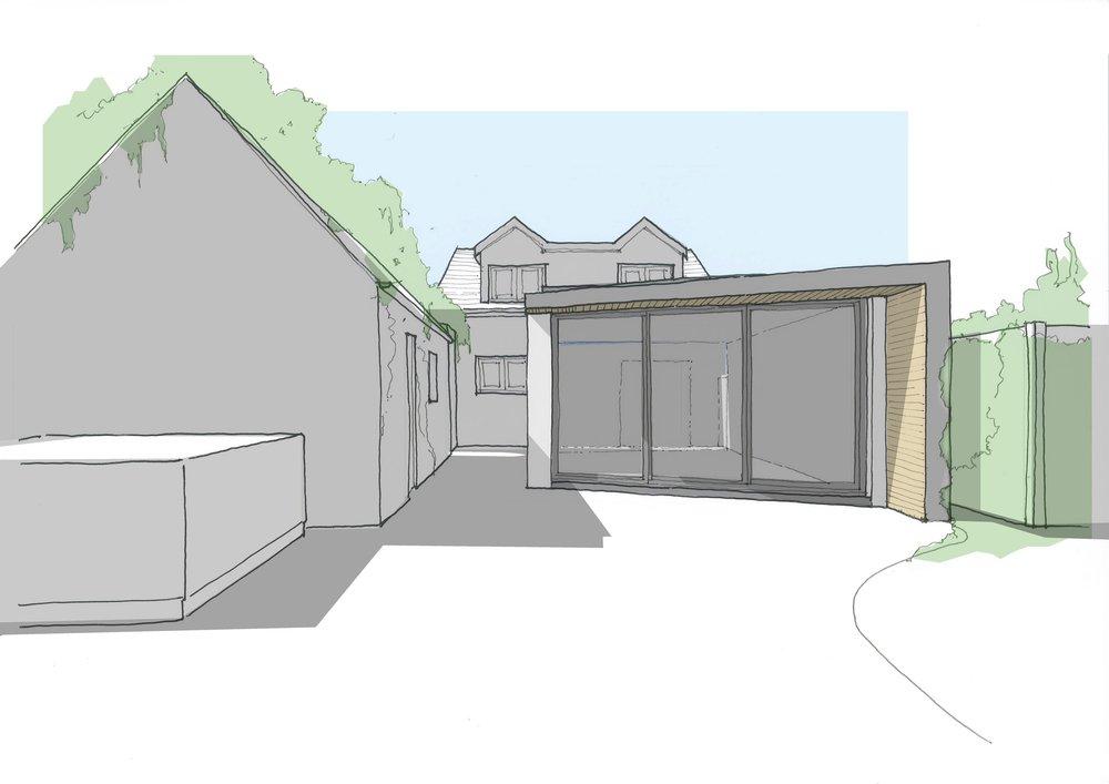 Cottage extension level design studio for Cottage extension designs