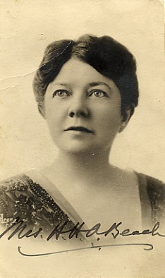Composer Amy Beach, born in Henniker, NH