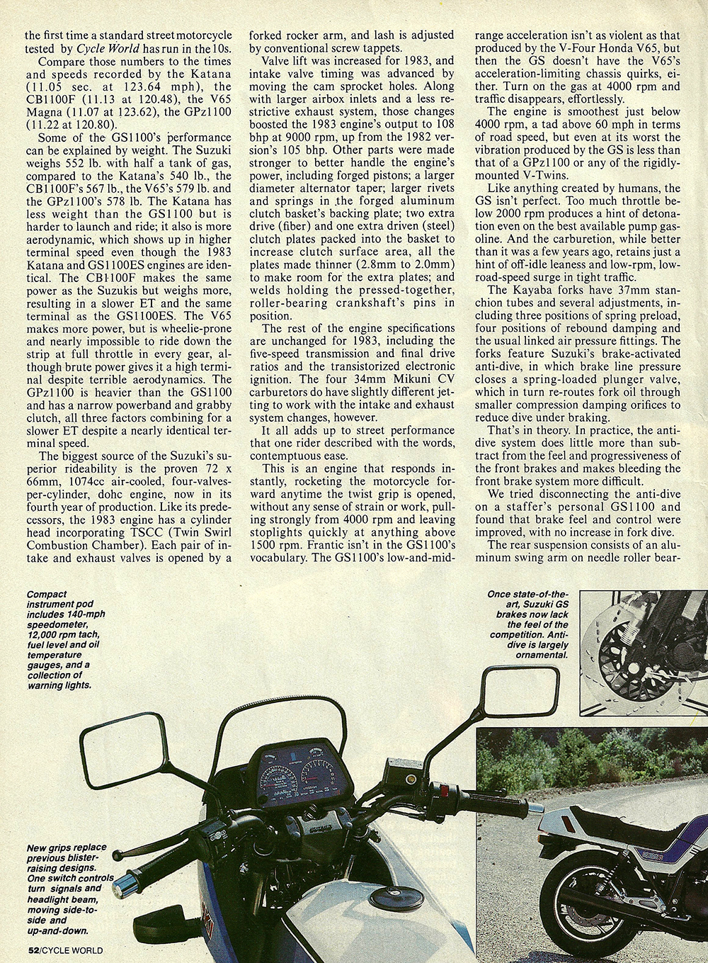 1983 Suzuki GS1100E road test 03.jpg