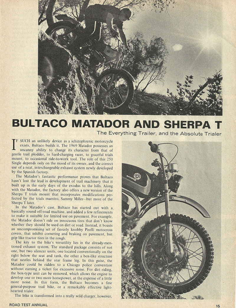 1969 Bultaco Matador and Sherpa T road test 1.jpg