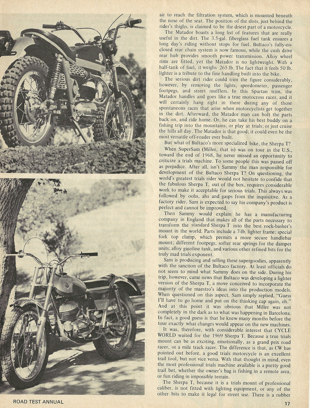 1969 Bultaco Matador and Sherpa T road test 3.jpg