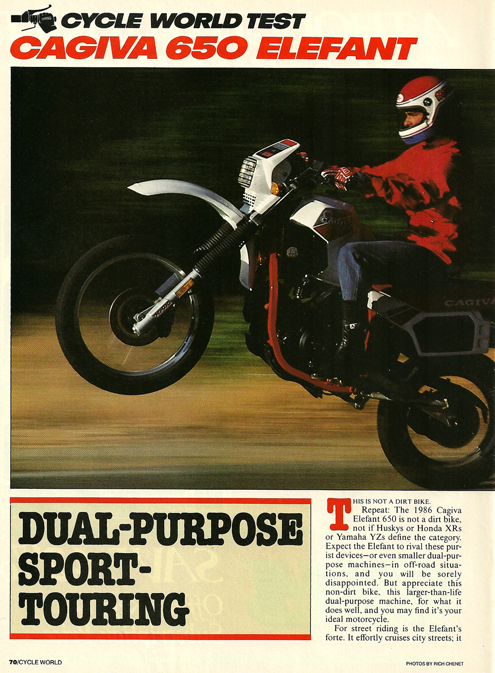 1985 Cagiva 650 Elefant road test 01.jpg
