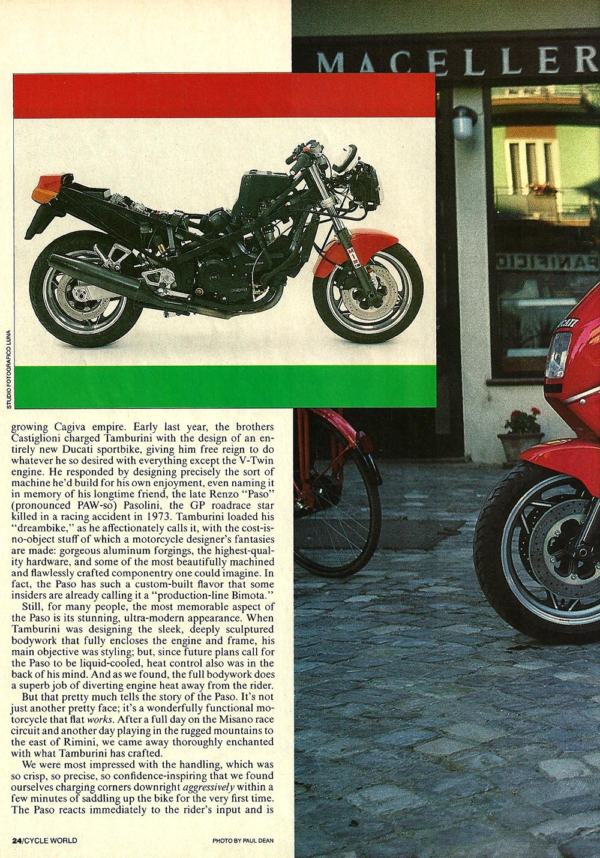 1986 Cagiva-Ducati 750 Paso road test 03.jpg