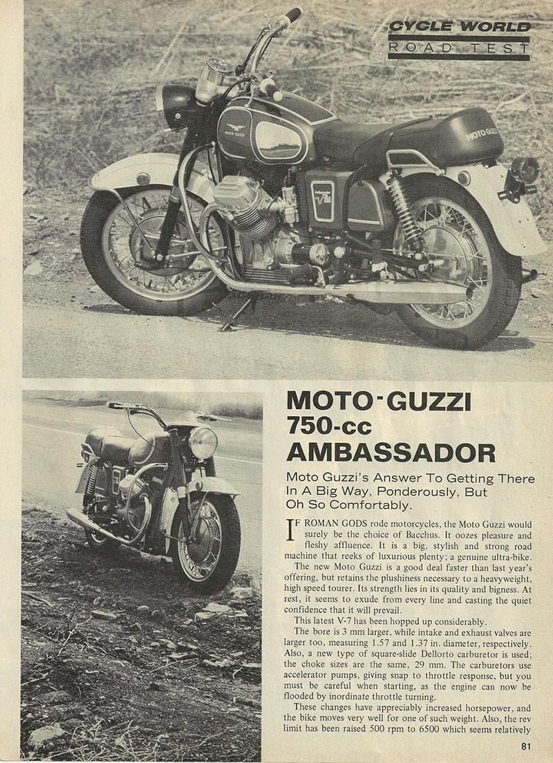 1969 Moto Guzzi 750 Ambassador road test 1.jpg