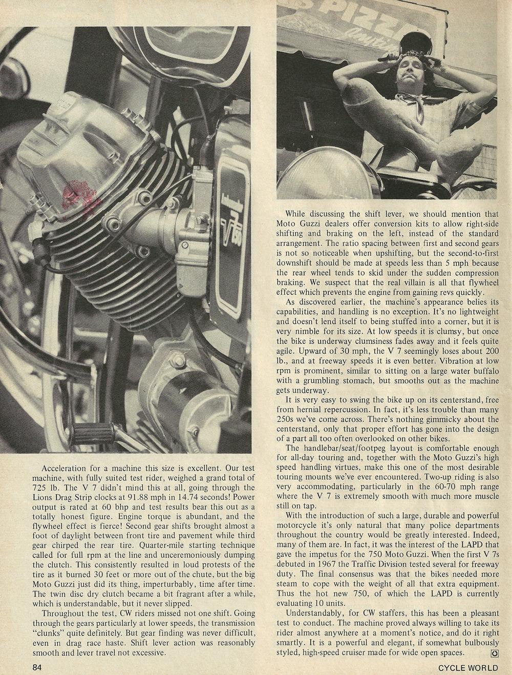 1969 Moto Guzzi 750 Ambassador road test 4.jpg