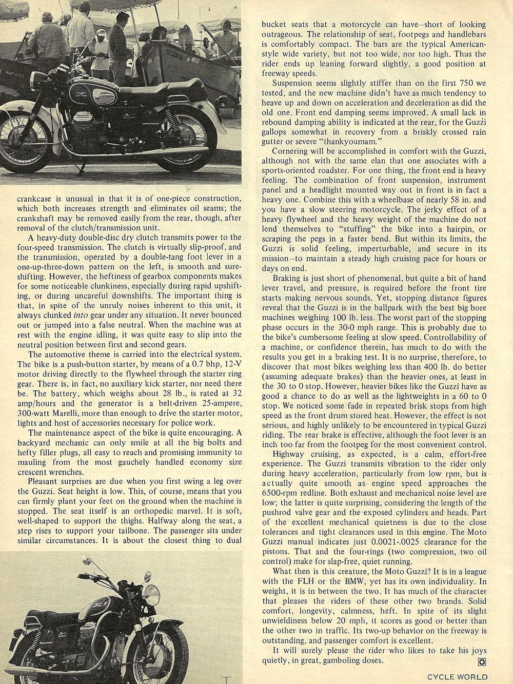 1971 Moto Guzzi V7 Ambassador road test 03.jpg