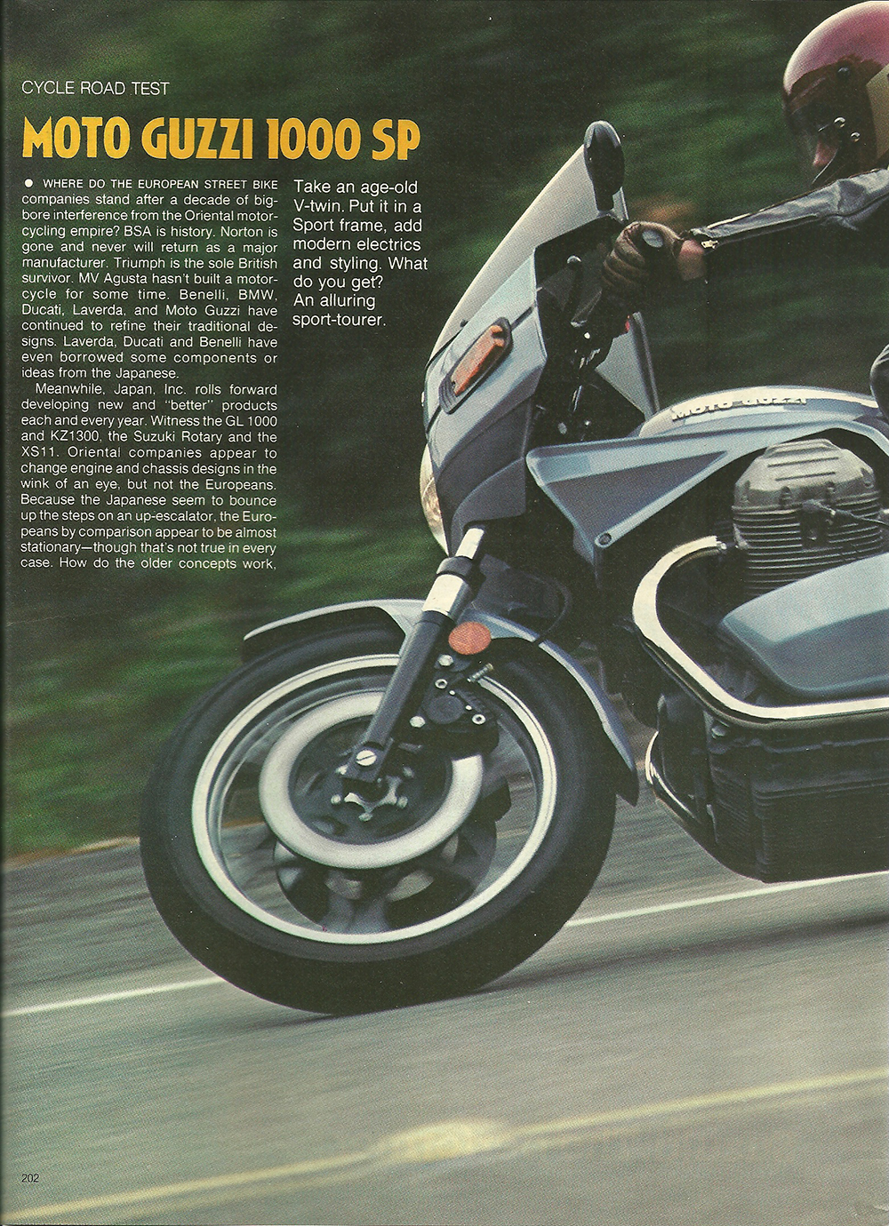 1979 Moto Guzzi 1000 SP road test 01.jpg