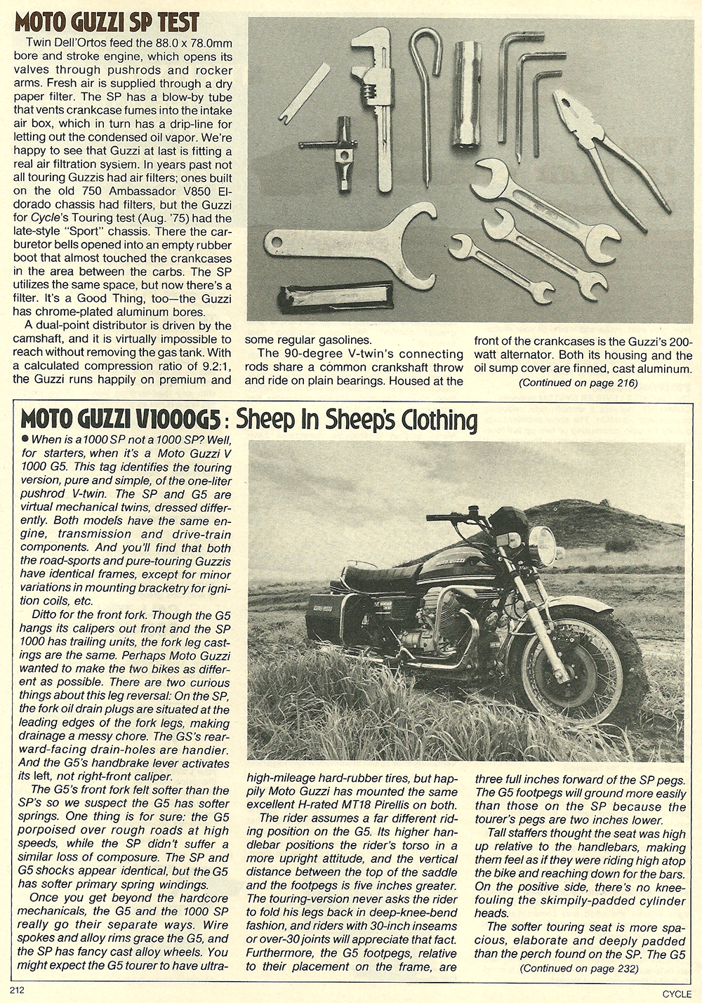 1979 Moto Guzzi 1000 SP road test 09.jpg