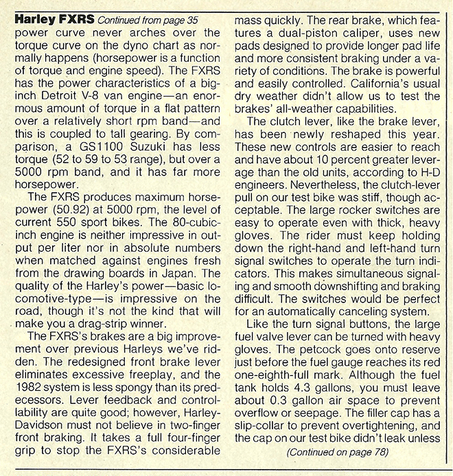 1982 Harley-Davidson FXRS road test 09.jpg