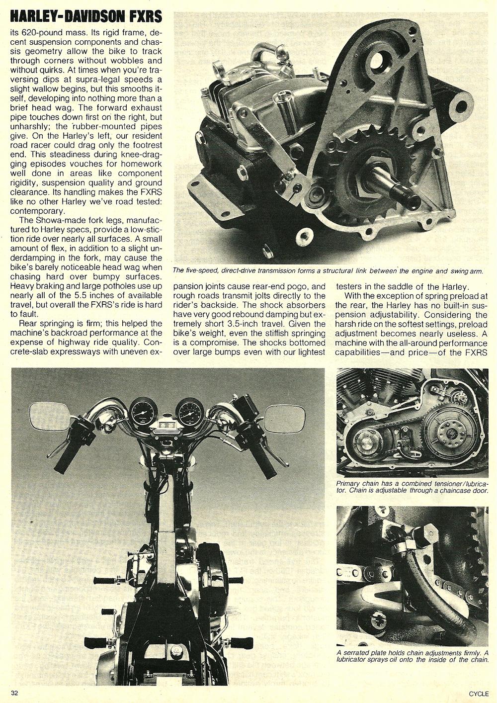 1982 Harley-Davidson FXRS road test 05.jpg